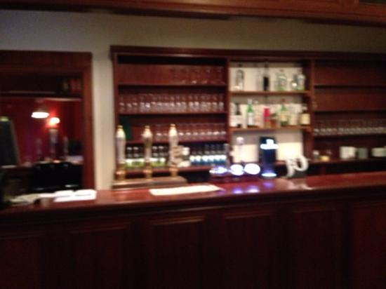 the well stocked bar at the Swan at Hay