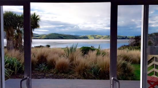 Waikava Harbour View: Beautiful view from living area, even on a stormy day!