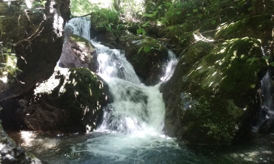 Camaiore, İtalya: One of the waterfalls at the end of spring