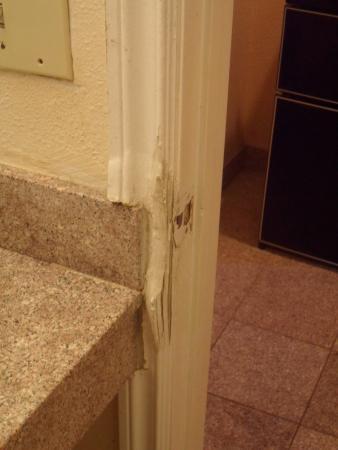 Look like someone kicked the door in...