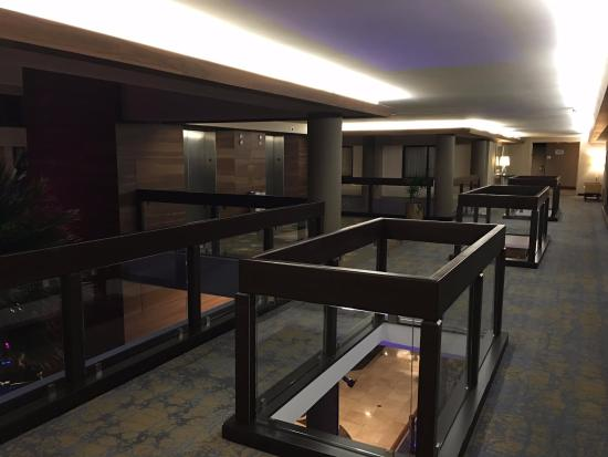 Foster City, CA: Upstairs Elevator Banks - Open & Airy!