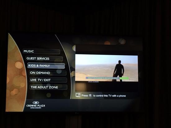 Foster City, CA: On Screen Hotel Menus & Information