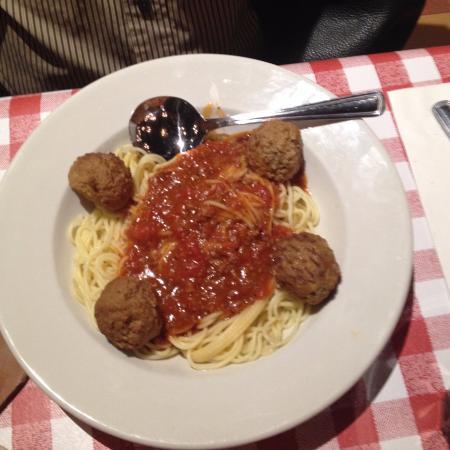 East Side Mario's: spaghettini & meatballs