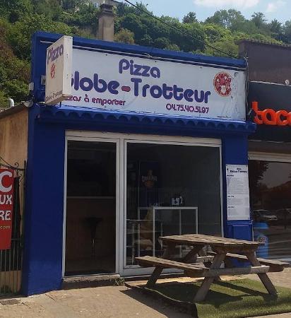Livron-sur-Drome, France: façade Pizza Globe-Trotteur Livron