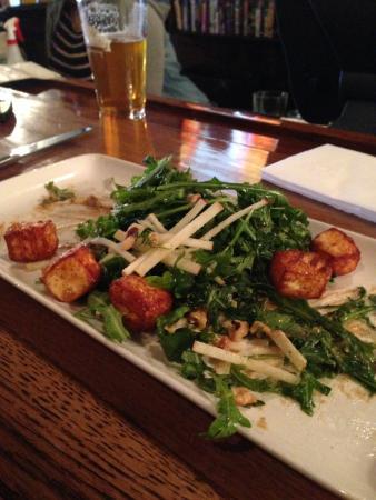 the Sovereign Room: Fried Halloumi salad