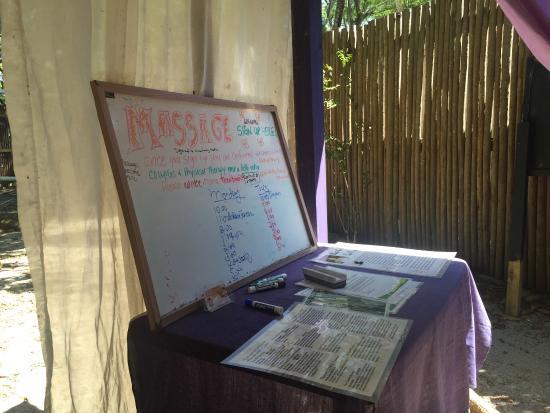 Πλασένθια, Μπελίζ: Garden oasis!  Tree-Top massage table!