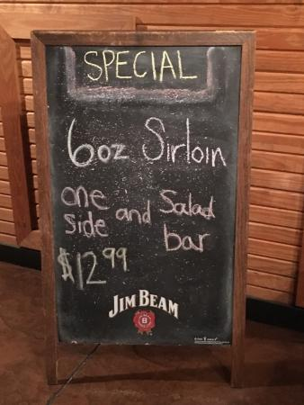 Special included salad bar.