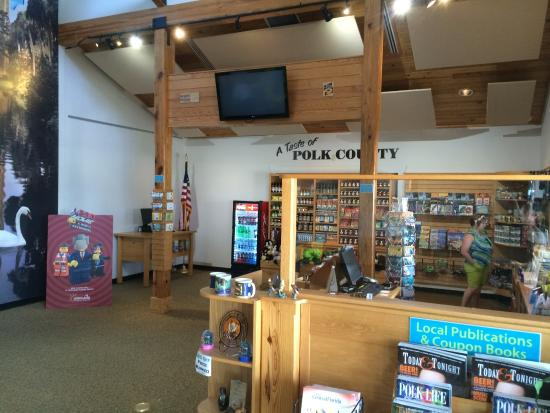 Central Florida's Visitor Information Center: Display of items and information