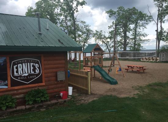 Brainerd, Миннесота: Sign & playground
