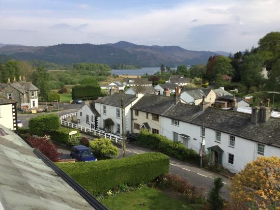 Portinscale, UK: View from bedroom window over Derwent Water