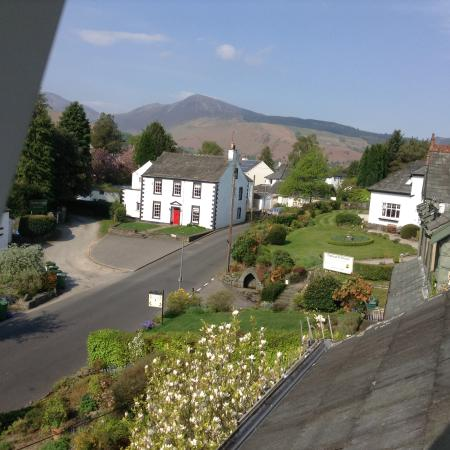 View from bedroom window towards village of Portinscale