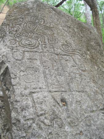 La Cruz, Κόστα Ρίκα: Ancient carvings