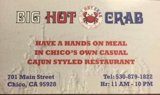 Chico, Californien: Big Hot Crab