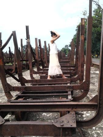 Klaten, إندونيسيا: Kereta untuk mengangkut tebu pada jaman dahulu.