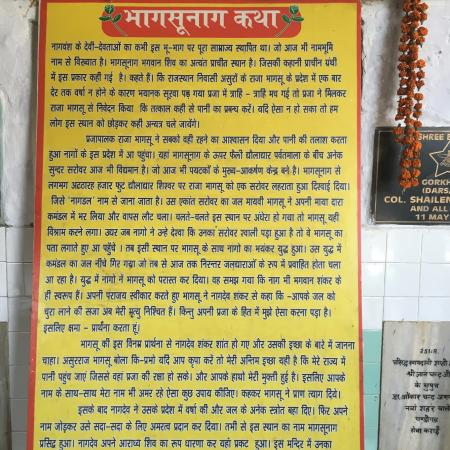 gives you story of temple - in Hindi  Don't have translation
