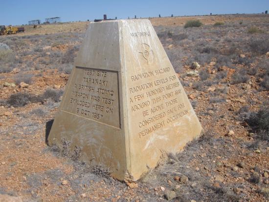 Ceduna, Australia: TEST SITE TARANAKI, BIGGER TEST THAN THE HIROSHIMA BOMB