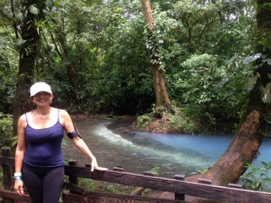 Tenorio Volcano National Park, Costa Rica: The actual area where the two streams meet