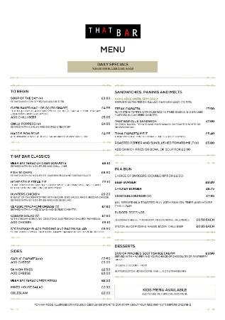 Perth and Kinross, UK: Our new menu