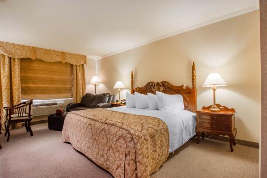 Le St-Christophe - Hotel & Spa: lit king