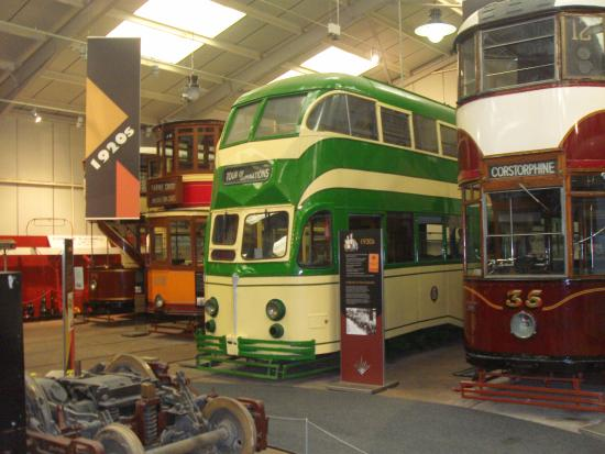 Matlock, UK: Some of the trams in the museum.