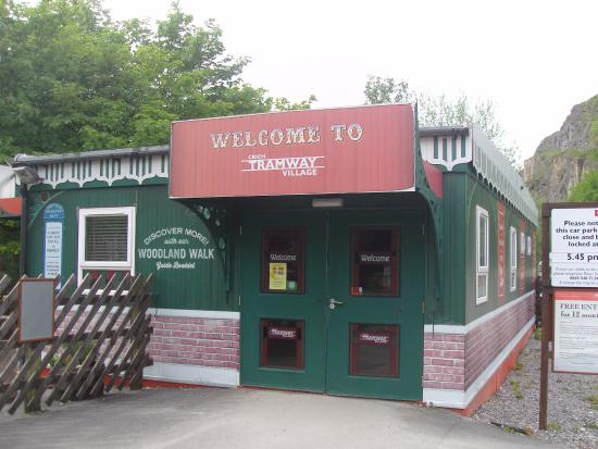 Matlock, UK: The main entrance & ticket sales building by the car park.