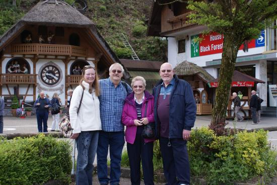 Hornberg, Deutschland: photo taken outside shop with friends we made on the trip