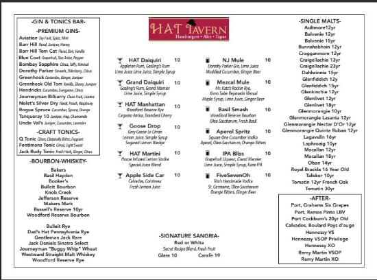 The HAT Tavern, Summit - Menu, Prices & Restaurant Reviews ...