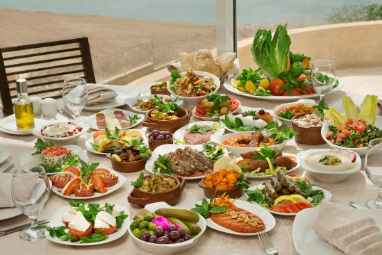 Savor authentic Lebanese cuisine served with spectacular views of the Dead Sea at Burj Al Hamam