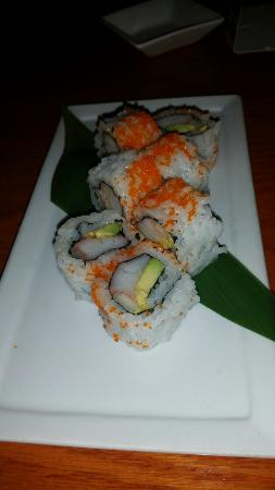 Sakura Japanese Steak House & Sushi Bar: California roll and inside