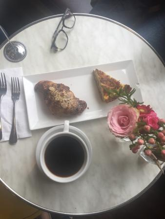 the quiche and chocolate banana almond croissant. yes and yes!!!