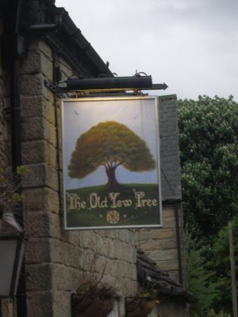 South Wingfield, UK: Pub sign.