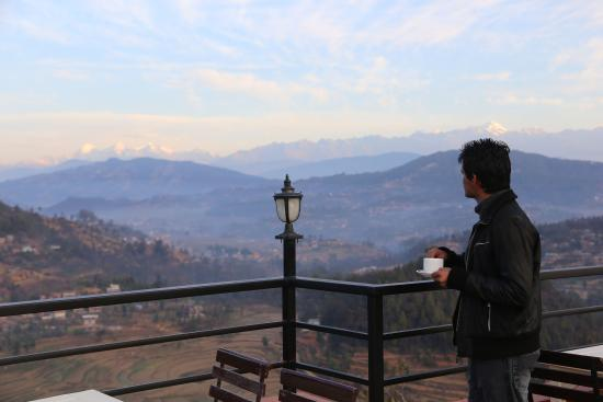 Balthali, Nepal: Early morning coffee