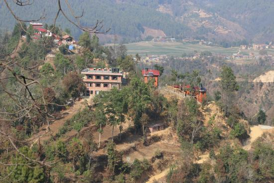 Balthali, نيبال: Building rear view