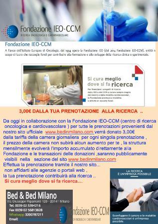 Bed & Bed Milano : DONAZIONE BEDMILANO IEO