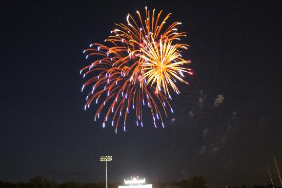 Neuroscience Group Field at Fox Cities Stadium: Fireworks after the game