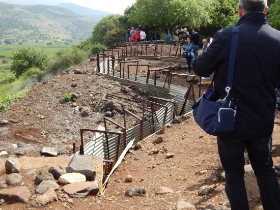 Galilee, Israel: le trincee con il Libano