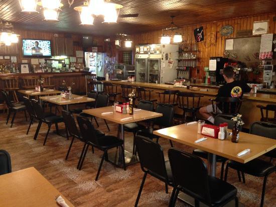 Pontiac, IL: Inside of Old Log Cabin Inn