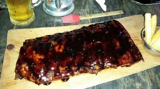 The Lodge Steak & Seafood Co.: Half rack of ribs
