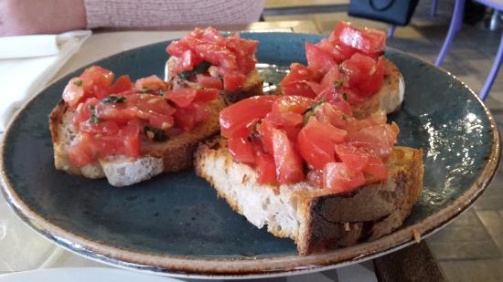 Fresh bruschetta with excellent tomatoes