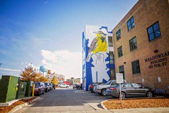 Meadowlark Mural Downtown Fargo