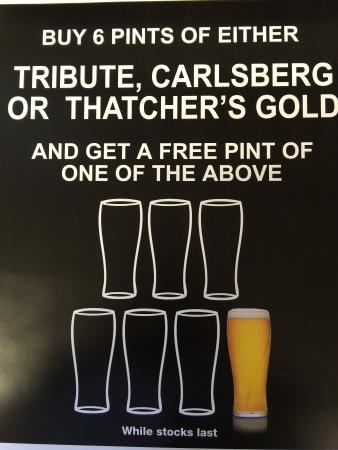 Tavistock, UK: Free beer!