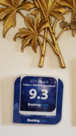 Huber's Inn Port Townsend : Awards for service