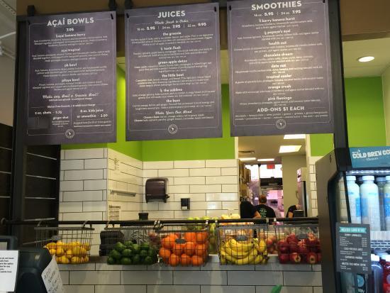 Layout bild von nekter juice bar plano tripadvisor for Whole food juice bar menu