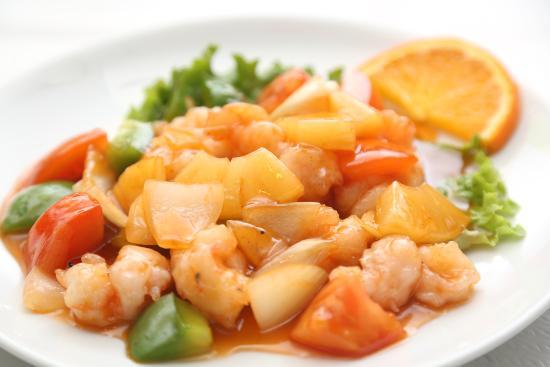 Nanterre, فرنسا: Crevettes sauce aigre douce