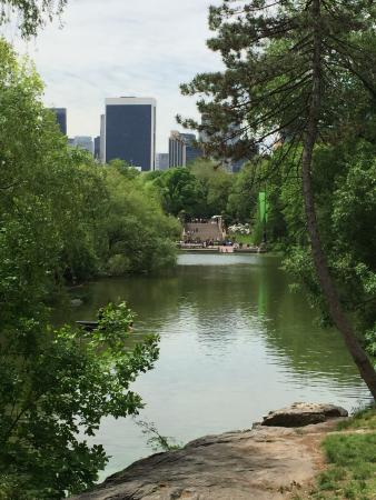 Official Central Park Tours: picture from the ramble towards the fountain