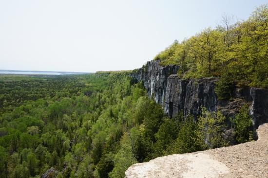 Manitoulin Island, Canadá: The cliffs from the top