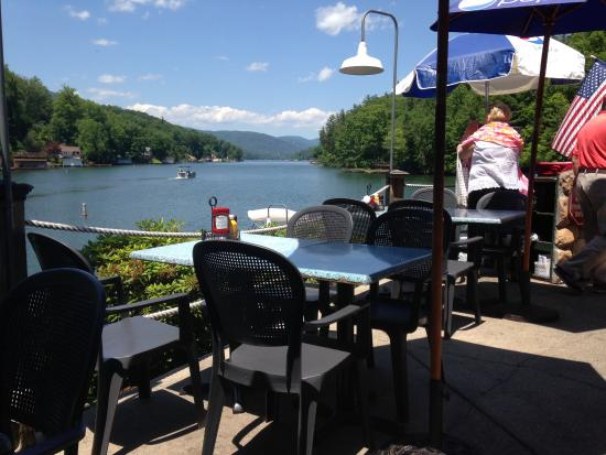 Another View Of Lake Lure From Our Table Picture Of Bayfront Bar