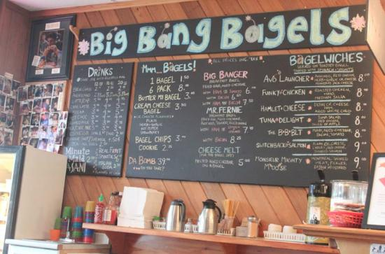 Big Bang Bagels : menu