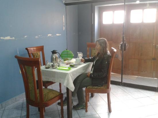 Chinchero, Peru: desayuno incluye en el precio de habitacion