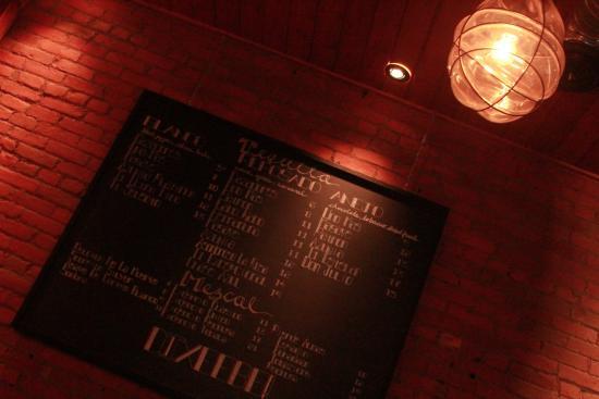 Ферни, Канада: le menu de tequila